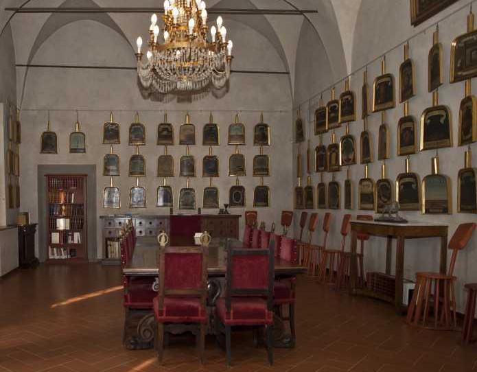 La sala delle Pale. Vialla di Castello, sede dell'Accademia della Crusca