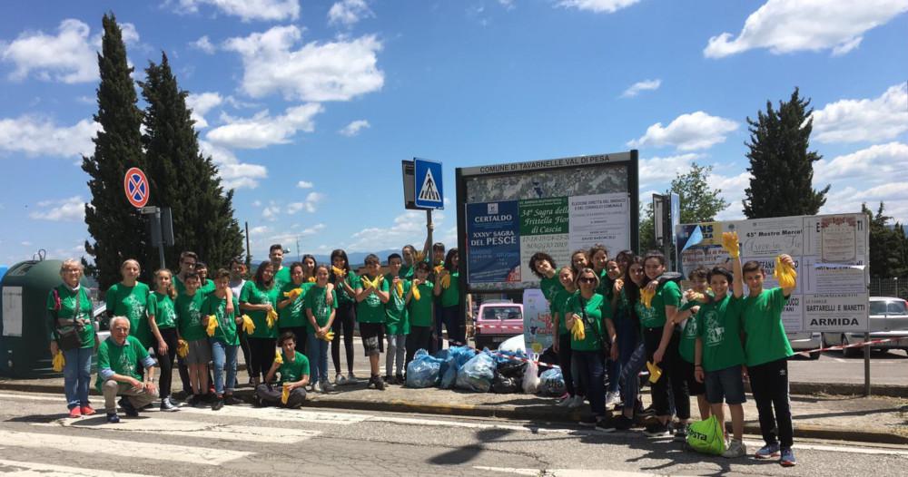 In centosessanta per Liberi dai rifiuti a Tavarnelle