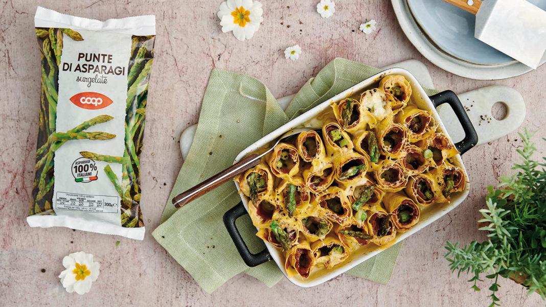 Rotolini di lasagne agli asparagi