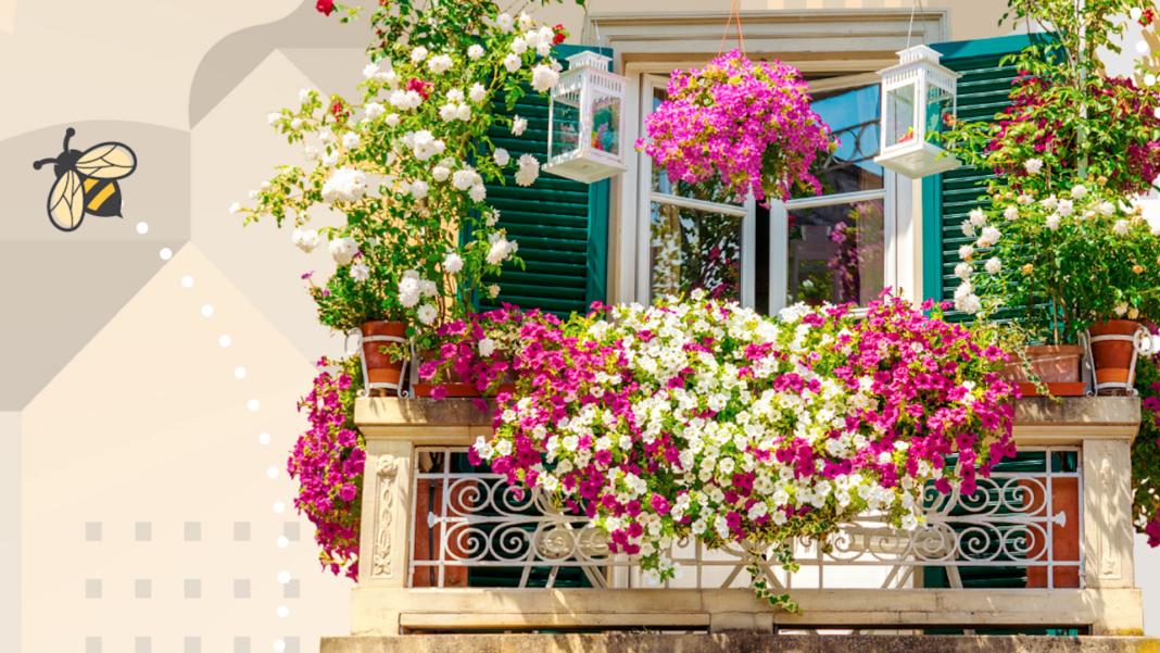 Balconi e giardini fioriti