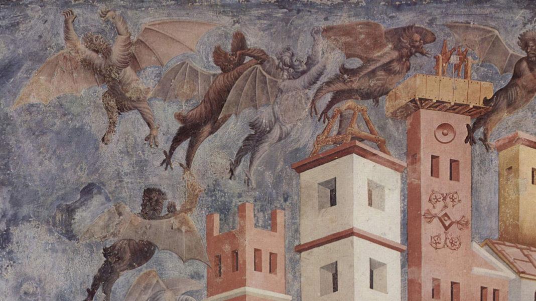 Diavoli di Giotto, Assisi, Basilica Superiore (1290-1295). Fonte: Wikipedia