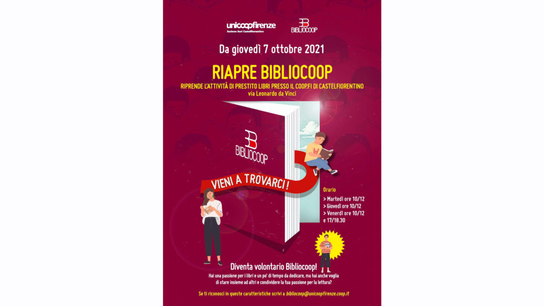 Castelfiorentino: riapre Bibliocoop